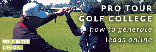 Pro Tour Golf College - golf instruction online marketing