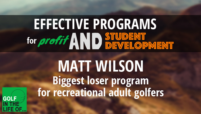 matt wilson golf instructor
