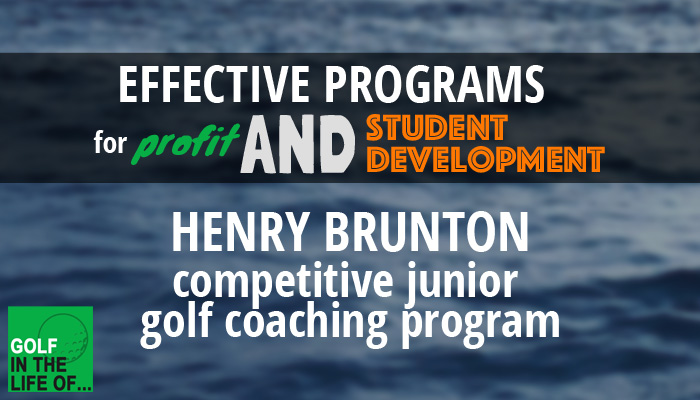 competitive junior golf coaching